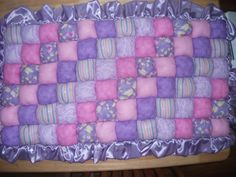Crib size puff quilt, comfort and warmth for baby, can also be used on the floor. Made to order