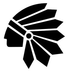 indian chief head silhouette - Google Search