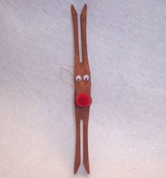 clothespin reindeer Ornament craft