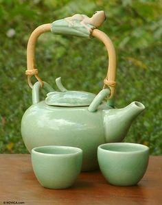 Ceramic tea set, 'Frog Serenade' (set for Ceramic tea set (Set for – Tableware Design 2020 Tea Service, Cute Mugs, Pottery Art, Ceramic Art, Decoration, Tea Time, Tea Party, Tea Cups, Tableware
