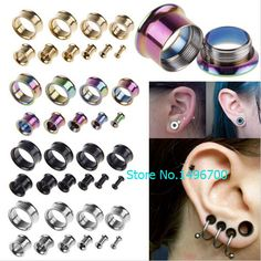 Fashion 1 Pair medical Stainless Steel Ear Plugs Hollow Expander Stretcher Tunnels Piercing 5 to 20mm body jewelry for men women♦️ SMS - F A S H I O N  http://www.sms.hr/products/fashion-1-pair-medical-stainless-steel-ear-plugs-hollow-expander-stretcher-tunnels-piercing-5-to-20mm-body-jewelry-for-men-women/ US $1.54