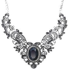 She Lian Vintage Womens Crystal Prom Costume Jewelry Bib Statement... ($22) ❤ liked on Polyvore featuring jewelry, necklaces, bib necklace, crystal jewelry, prom necklaces, prom jewelry and crystal statement necklace