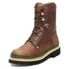 """Georgia Boots Men's Leather Work Boots Georgia Giant are new from Georgia and they are a giant value. These all leather work boots are made of waterproof full-grain leather, Goodyear Welt construction and the """"Giant rubber outsole. Georgia Boots, Goodyear Welt, Leather Men, Hiking Boots, Clothes, Shoes, Fashion, Outfits, Moda"""