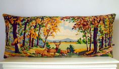 Retrocollects Interiors Huge Unique Vintage Silk Needlepoint Tapestry by Retrocollects