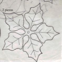 Poinsettia flower template III copy - Her Crochet Clay Christmas Decorations, Felt Christmas Ornaments, Christmas Paper, Christmas Projects, Felt Crafts, Christmas Crafts, Fabric Flowers, Paper Flowers, Diy Flowers