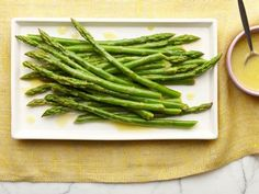 Chilled Asparagus Salad- very nice tang. Careful not to overcook asparagus!