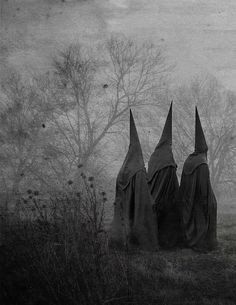 Artist unknown #black #cloak #dark #cult #occult