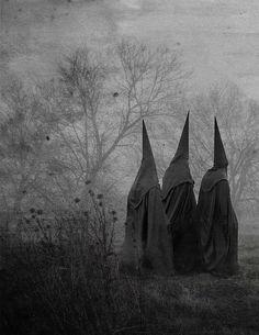 Artist unknown #black #cloak #dark #cult #occult