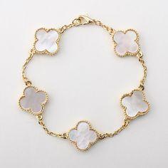 Vintage Alhambra Style Bracelet by BijouterieRosemarie on Etsy, $245.00