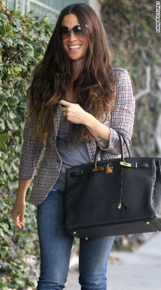Alanis Morissette with a Birkin - seems ironic, don't you think?