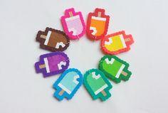 Popsicle Perler Charms, make your own, DIY, do it yourself, you choose colors, pendants, kawaii, kandi, perler beads on Etsy, $2.00