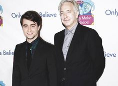 "Alan Rickman and Daniel RadcliffeDaniel Radcliffe & Alan Rickman at the 12th Annual ""Only Make Believe"" Gala in New York City. November 14, 2011 'Only Make Believe' is a non-profit organization that creates and performs interactive theatre for children in hospitals and care facilities."