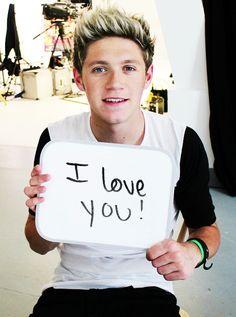 love you too Niall!