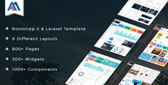 Admire - Bootstrap 4 Admin + Laravel Template  -  https://themekeeper.com/item/site-templates/admire-bootstrap-admin-template