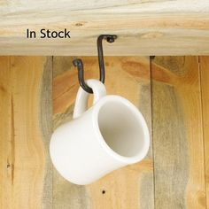 Small Under Cabinet Cup Hook   Decorative Hardware Included  Purse Hook    Plant Hook