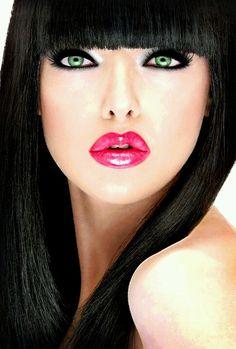 Stunning Eyes, Beautiful Lips, Beautiful Girl Image, Look Festival, Beautiful Girl Wallpaper, Natural Hair Styles, Long Hair Styles, Jolie Photo, Pink Lips