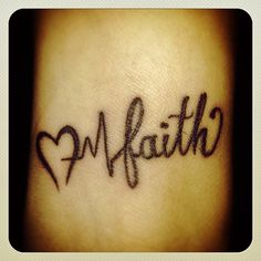 Love Life Faith Tattoo With Heart Wrist Tattoo