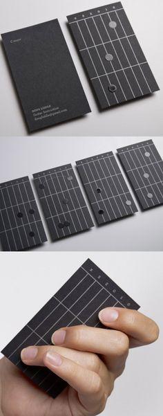 Unique Creative Business Card Designs -Guitar Fret Business Card