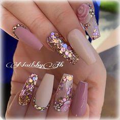 Amazing Wedding Nails Designs For Bride – Nail Art Connect – Fancy Nails Glam Nails, Toe Nails, Pink Nails, Glitter Nails, Cateye Nails, Red Nail, Pastel Nails, Fabulous Nails, Gorgeous Nails