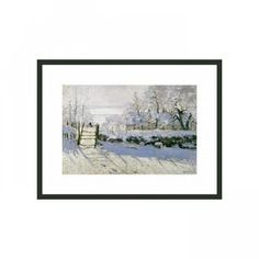 "Frames By Mail The Magpie by Monet Framed Print - 11"" x 14"" - FPF717-BMG-RM"