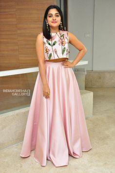8919658a55c9d Actress Niveda Thomas At Zee Telugu Apsara Awards 2018 - Tolly Boost.  Lehenga CholiLehenga Crop TopLehenga ...