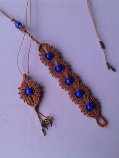 Macrame bracelet and necklace,design macrame school