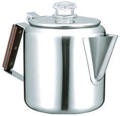 パーコレータは、ペーパーフィルタを使わずにコーヒーを煎れる器具で