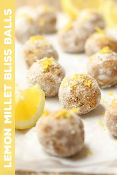 Lemon Millet Bliss Balls- replace the oat flour with coconut maybe?
