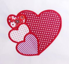 New Embroidery Machine Applique Designs Free 53 Ideas Applique Designs Free, Machine Applique Designs, Applique Stitches, Applique Patterns, Applique Quilts, Quilt Patterns, Embroidery Hearts, Embroidery Bags, Shirt Embroidery