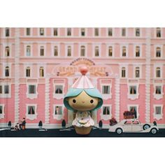Love these Wes Anderson vibes by Feeling like curling up and watching The Grand Budapest Hotel right now. Toy Art, Girl Birthday, Happy Birthday, Momiji Doll, Toys Land, Grand Budapest Hotel, Vinyl Toys, Wes Anderson, Designer Toys