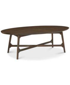 Hirono Oval Coffee Table | macys.com