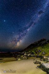 Milky way over Sawtell Headland Milky Way, Beach, Water, Outdoor, Gripe Water, Outdoors, Seaside, Outdoor Games, Aqua