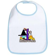 Babys 1st Halloween Little Witch Bib on CafePress.com
