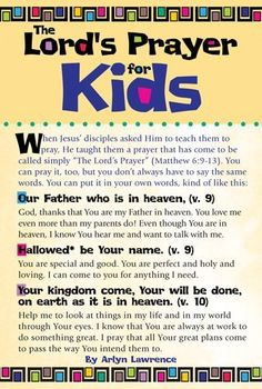 The Lord's Prayer for Kids 20-pack - Teach your children the importance of conversing with God while they learn the Lord's Prayer. This prayer guide will help them understand the Scripture while they take valuable steps in developing a relationship with God through prayer.