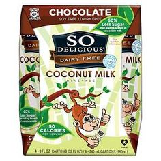 So Delicious Dairy Free Coconut Milk 8 oz, 4 pk : Target