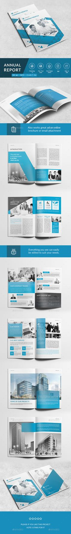 Corporate Brochure Template InDesign INDD Brochure Templates - professional business profile template