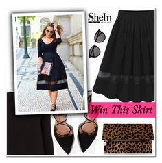 """""""Shein contest"""" by aida-nurkovic ❤ liked on Polyvore featuring mode, Oasis, Zara, Clare V. et Yves Saint Laurent"""