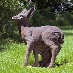 Buy Standing Fawn Statue Online With Free Shipping From Thegardengates.com Garden  Statues For Sale