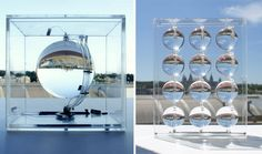 The solar energy designers at Rawlemon have created a spherical, sun-tracking glass globe that is able to concentrate sunlight (and moonlight).