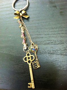 Cute girl keychain