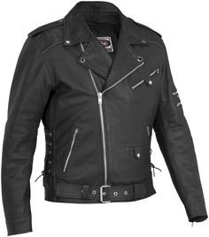 River Road Iron Clad Perforated Street Riding Leather Motorcycle Jacket