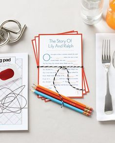 Wedding Favor Kit for Kids: Fill-In-the-Blank Story Cards - Martha Stewart Weddings Favors