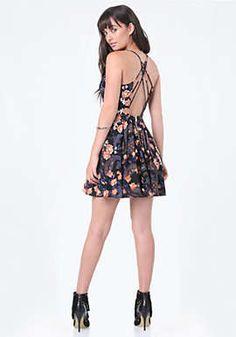 Print Crisscross Dress