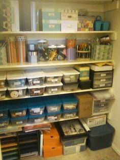 Organize Your Craft Closet With Bins From Dollar Tree.