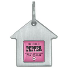 Kitty Prints Pink Personalized Pet Tags