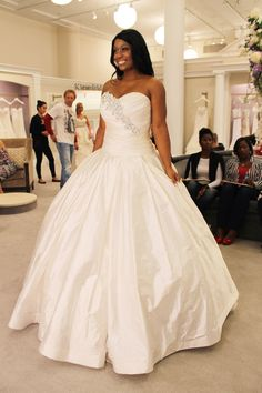 Season 14 Featured Dress: Pnina Tornai. Sweetheart ball gown. Corseted back with bling. $7,600
