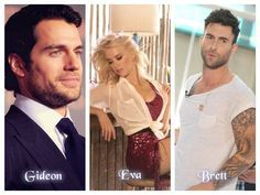 "Gideon, Eva and Brett...#crossfire ""Reflected in you"" by Sylvia Day (Henry Cavill, Amber Heard, Adam Levine)"
