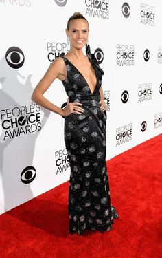 Heidi Klum, in Armani at People's Choice Awards