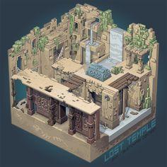 Lost temple, Thibault Simar on ArtStation at https://www.artstation.com/artwork/ymALJ