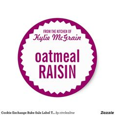 Cookie Exchange Bake Sale Label Template